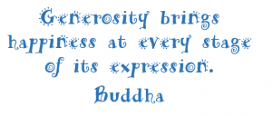 Buddha and Generosity
